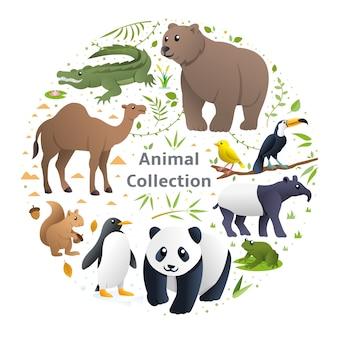 Tiere vektor festgelegt