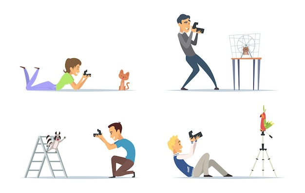 Tierfotografen setzen