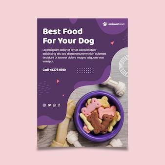 Tierfutter poster vorlage Kostenlosen Vektoren