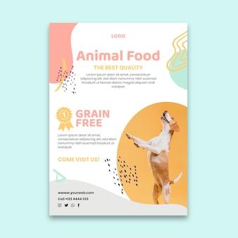 Tierfutter poster vorlage