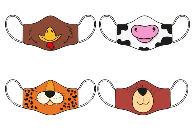 Tiergesichtsmasken-sammlung