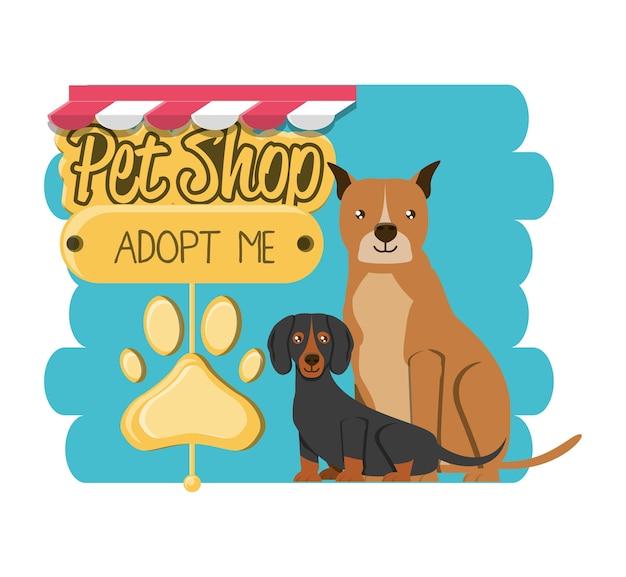 Tierhandlung zubehör symbole