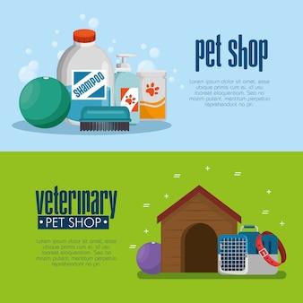 Tierhandlungsprodukte stellen ikonen ein