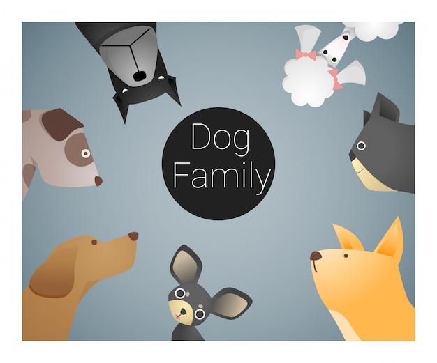 Tierhintergrund mit hunden