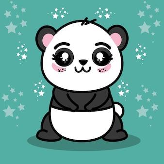 Tierkarikatur des niedlichen pandas