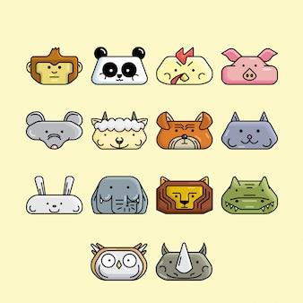 Tierkopf-symbol