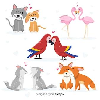 Tierpaarsammlung des valentinstags
