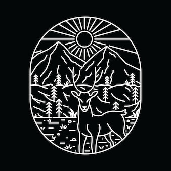 Tierrotwild-wildnis-grafisches illustrations-kunst-t-shirt