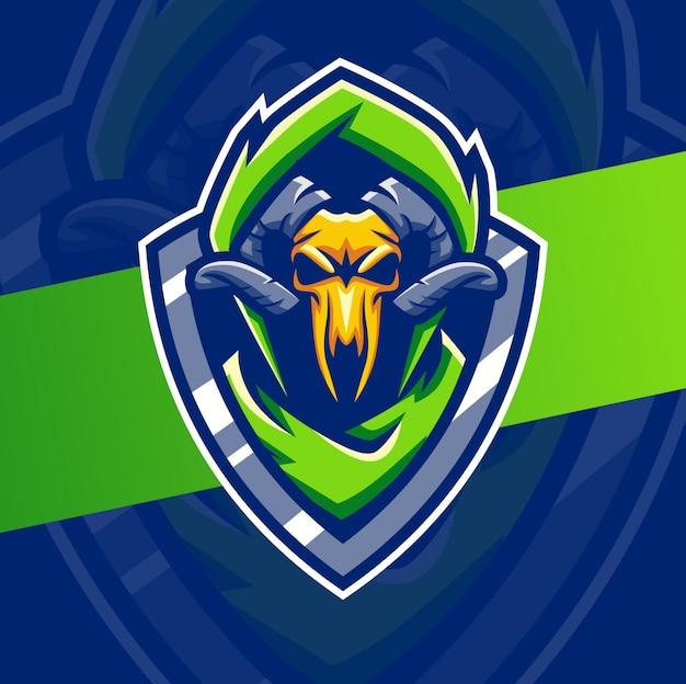 Tierschädel maskottchen esport logo design