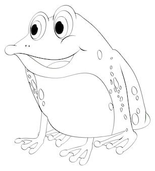 Tierumriss für frosch