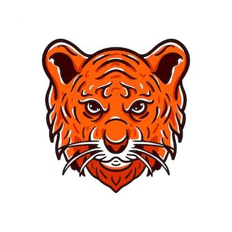 Tiger angry animals logo esport-stil