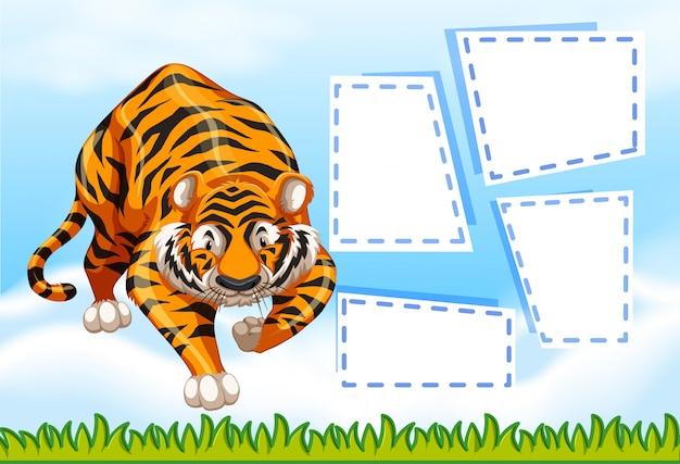 Tiger auf hinweis vorlage