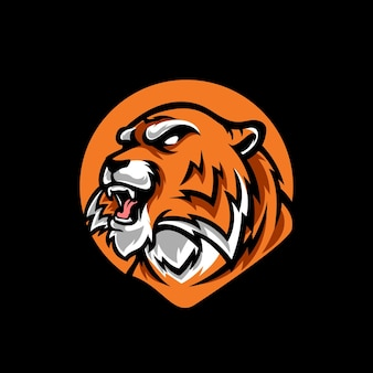 Tiger head e sport logo