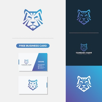 Tiger Head Logo Vector Vorlage
