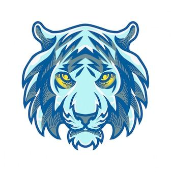 Tiger kopf maskottchen logo