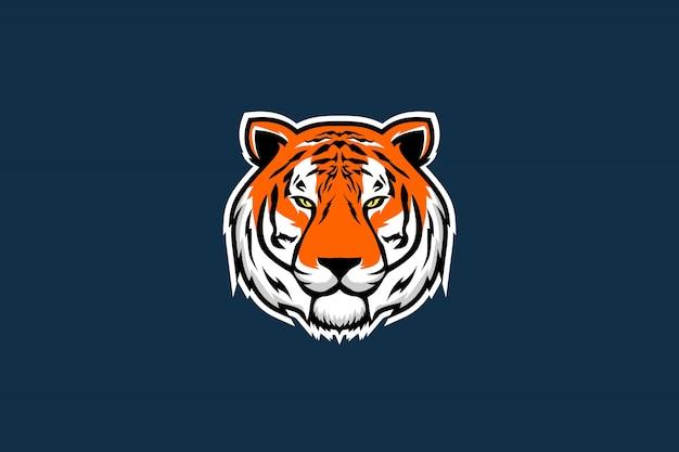 Tiger kopf vektor-illustration
