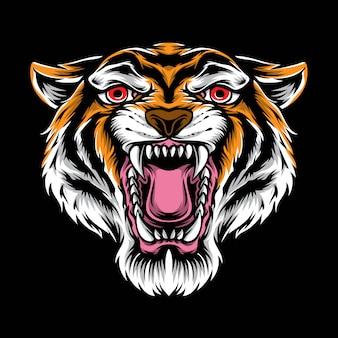 Tiger kopf vektor