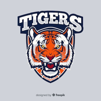 Tiger logo hintergrund