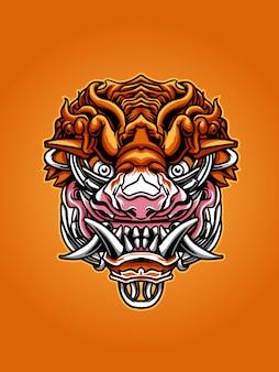 Tiger mask illustration