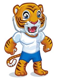 Tiger-maskottchen-design