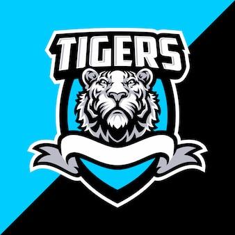 Tiger maskottchen logo sport.