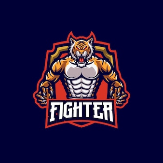Tiger maskottchen logo vorlage