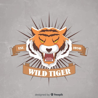 Tiger mit bandhintergrund
