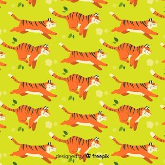 Tiger muster ausgeführt