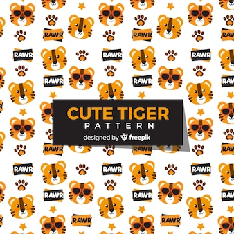 Tiger-muster-sammlung