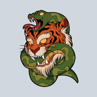 Tiger schlange illustration