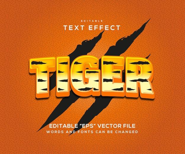 Tiger-texteffektstil