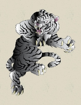 Tiger weiß japanisch