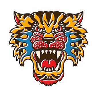 Tigerkopf bohotattoo