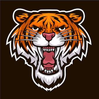 Tigerkopf brüllen