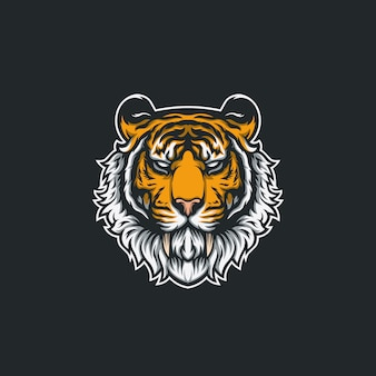 Tigerkopf-illustrationsdesign
