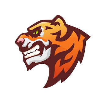 Tigerkopf maskottchen