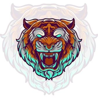 Tigerkopfillustration