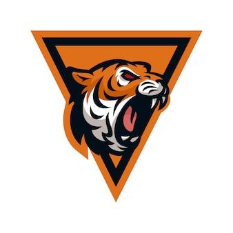Tigervektorikonenlogo-maskottchenillustration
