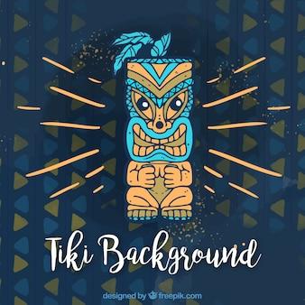 Tiki hintergrund mit modernen tribal totem