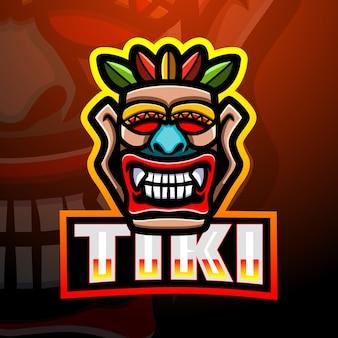 Tiki maske maskottchen esport illustration