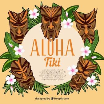 Tiki masken aloha hintergrund