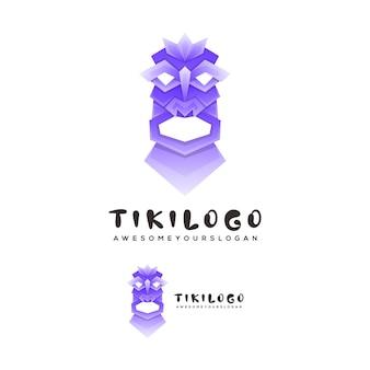 Tiki-masken-logo-vorlage Premium Vektoren