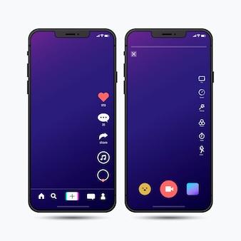 Tiktok app interface pack