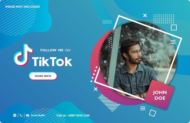 Tiktok-banner für werbung