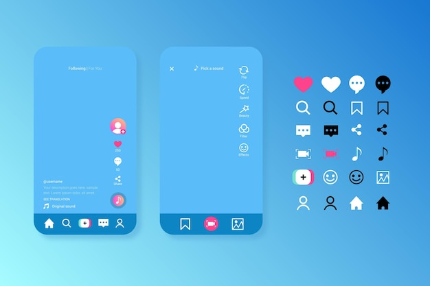 Tiktok interface pack