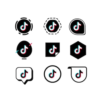 Tiktok logo sammlung
