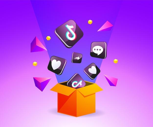 Tiktok-symbol aus der box