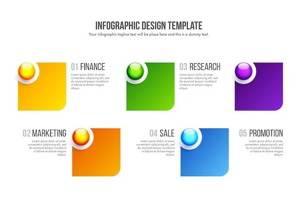 Timeline-infografik-design-vektor kann für workflow-layout, diagramm, jahresbericht, webdesign verwendet werden. geschäftskonzept mit 5 optionen, schritten oder prozessen.