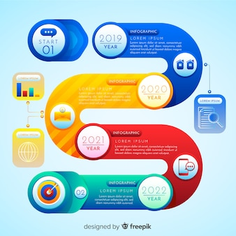 Timeline-infografik-design