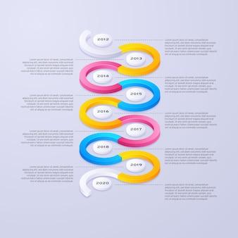 Timeline-infografik-konzept